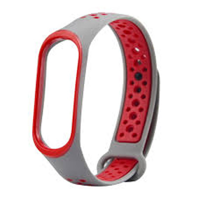Řemínek XIAOMI MI BAND 3 SPORT GREY / RED