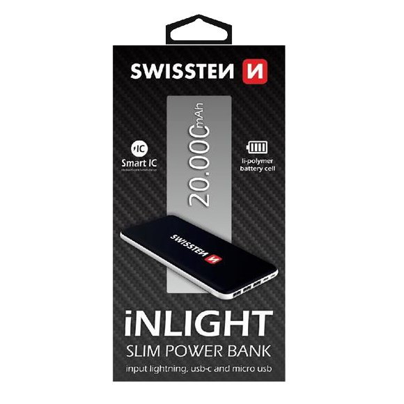 PowerBank SWISSTEN iNLIGHT SLIM 20000 mAh