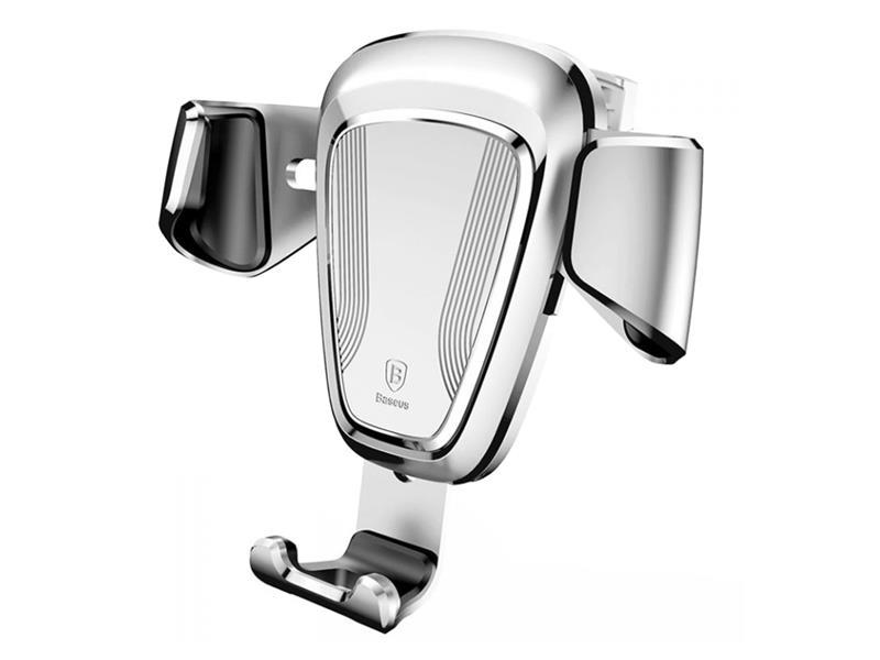 Držák do ventilace auta BASEUS GRAVITY METAL stříbrný