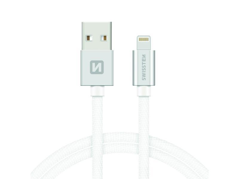 Kabel SWISSTEN USB/Lightning MFi 1,2M stříbrný