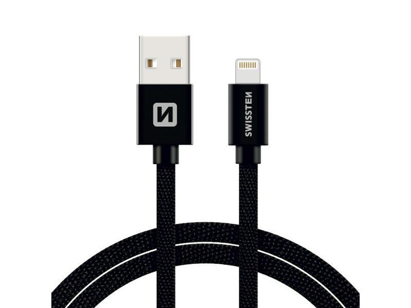 Kabel SWISSTEN USB/Lightning MFi 1,2m černý