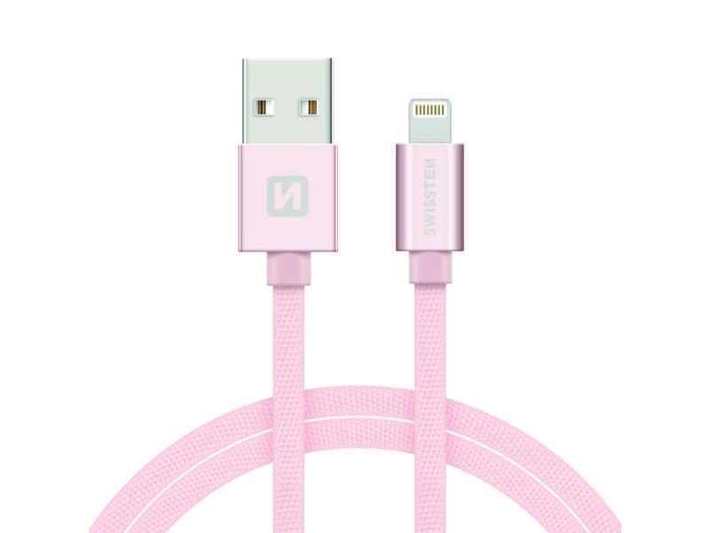 Kabel SWISSTEN USB/Lightning MFi 1,2M růžovo/zlatý