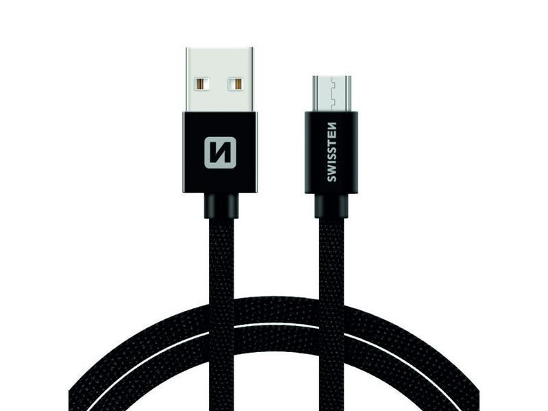 Kabel SWISSTEN USB/Micro USB 1,2M černý