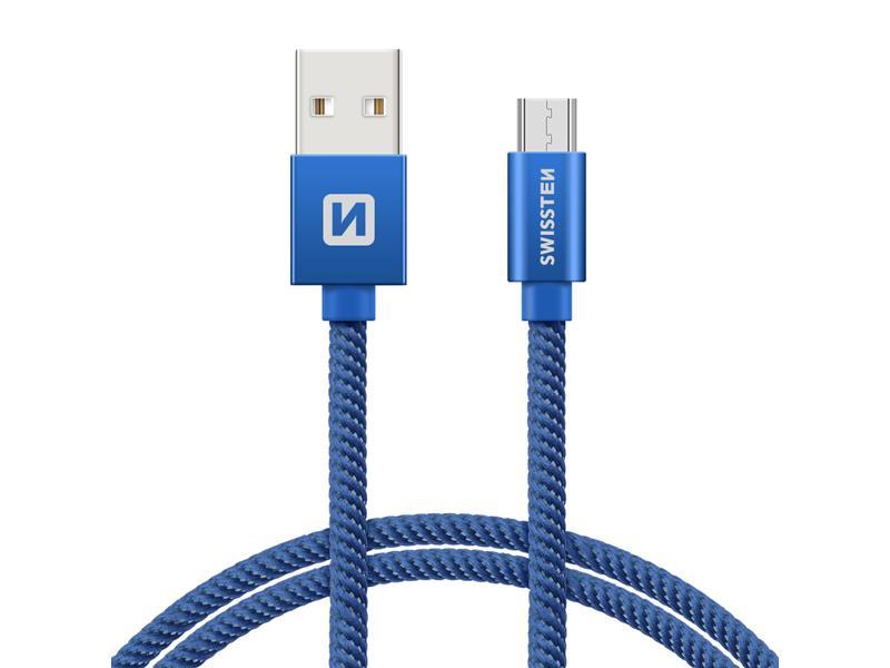 Kabel SWISSTEN USB/Micro USB 1,2M modrý