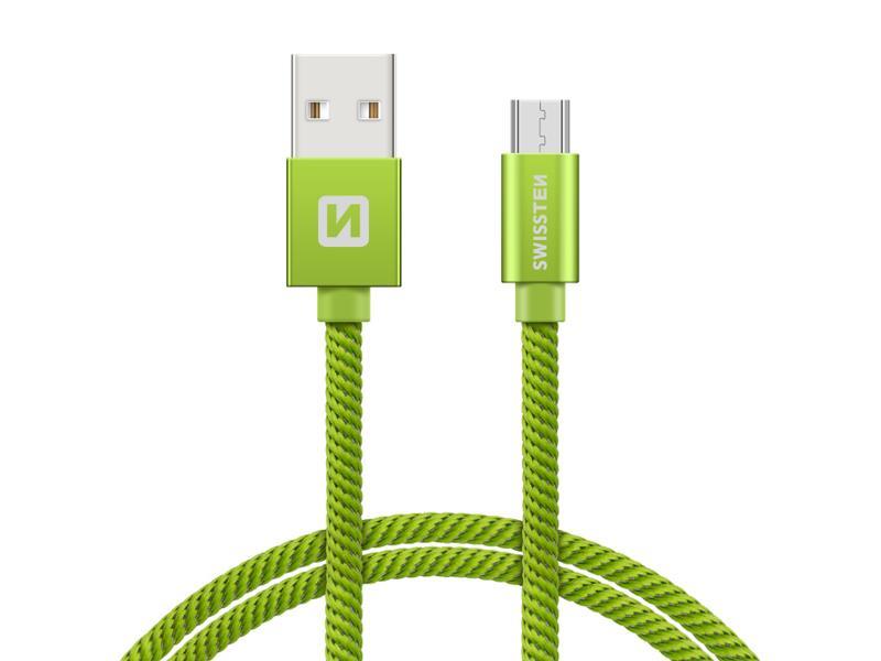 Kabel SWISSTEN USB/Micro USB 1,2M zelený