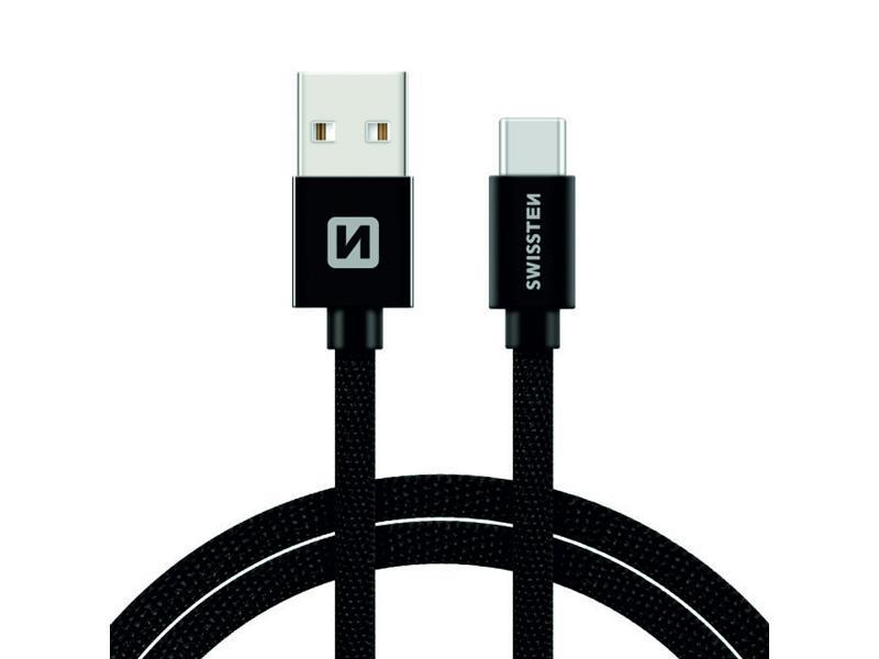 Kabel SWISSTEN USB/USB-C 1,2M černý