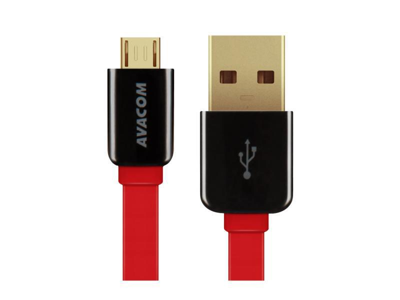 AVACOM MIC-40R kabel USB - Micro USB, 40cm, červená
