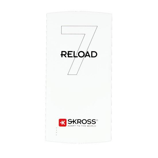 Powerbank SKROSS Reload 7, 7000mAh, 2x 2.4A výstup, microUSB kabel, bílý