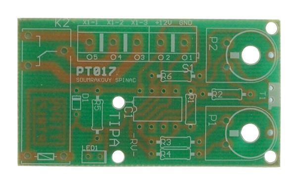 Plošný spoj TIPA PT017 Soumrakový spínač s relé 230V/8A
