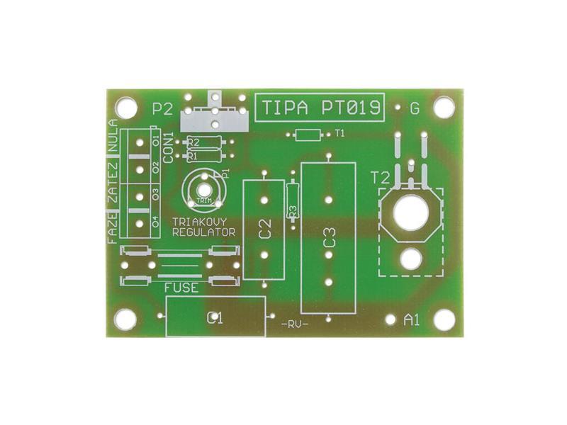 Plošný spoj TIPA PT019 Triakový regulátor výkonu 230V/12A (plošný spoj)