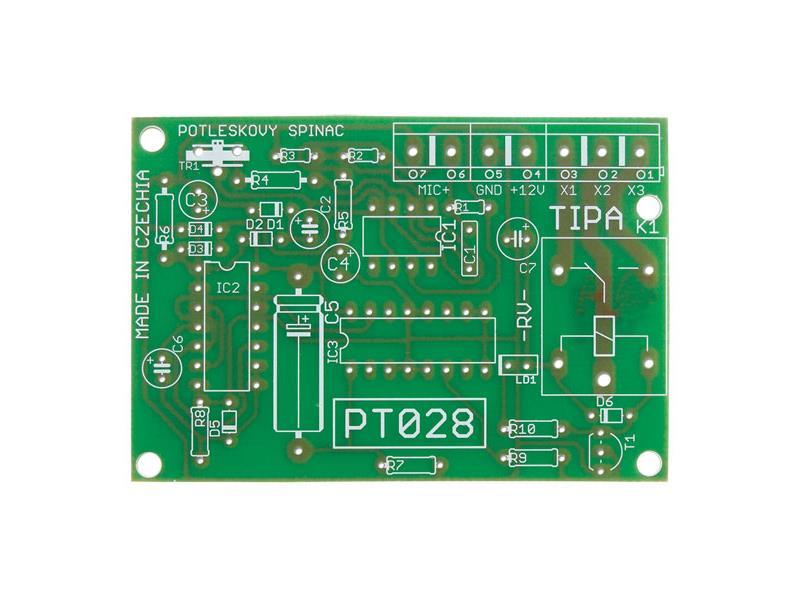 Plošný spoj TIPA PT028 Potleskový spínač