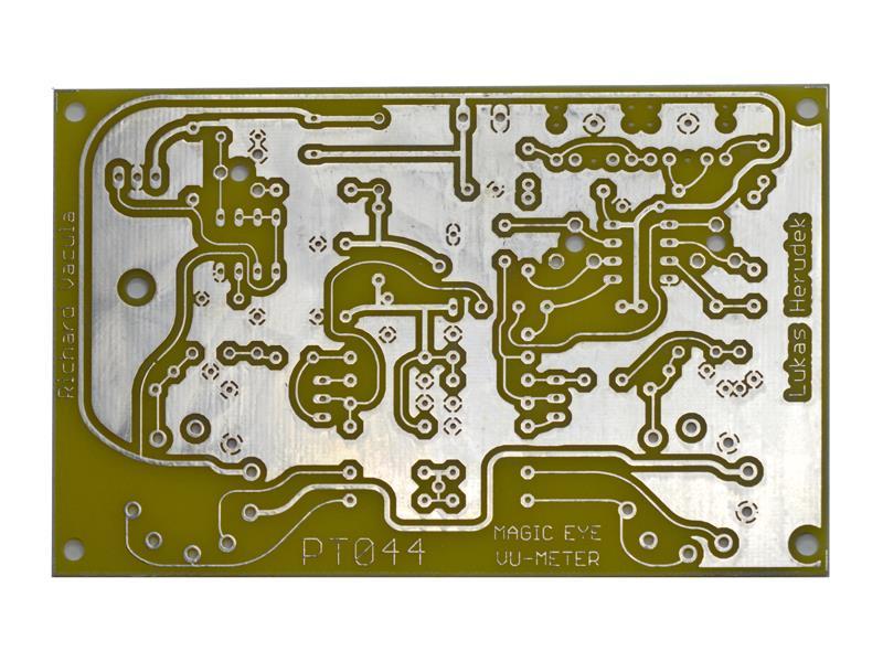Plošný spoj TIPA PT044 Indikátor vybuzení s magickými oky - RETRO EDICE