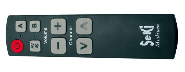 Ovladač dálkový SEKI MEDIUM černý pro seniory - univerzální - velká tlačítka