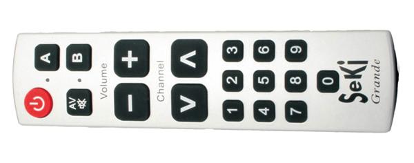 Ovladač dálkový  SEKI GRANDE stříbrný pro seniory - univerzální - velká tlačítka