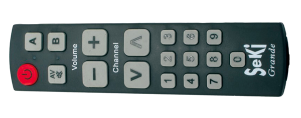 Ovladač dálkový  SEKI GRANDE černý pro seniory - univerzální - velká tlačítka