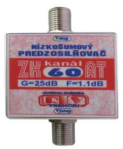Anténní zesilovač ZK60AT 25dB  F-F