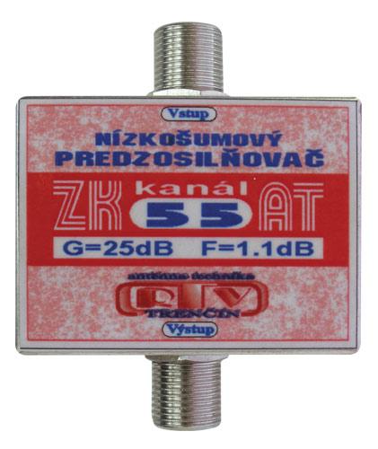 Anténní zesilovač ZK55AT 25dB  F-F