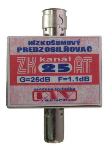 Anténní zesilovač ZK25AT 25dB  IEC
