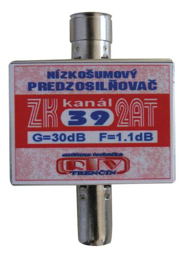 Anténní zesilovač ZK39 2AT 30dB IEC