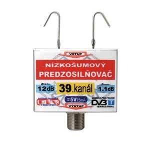 Anténní zesilovač DVB-T 39K 5V 12dB  F