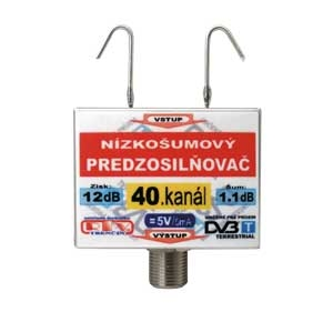 Anténní zesilovač DVB-T 40K 5V 12dB  F