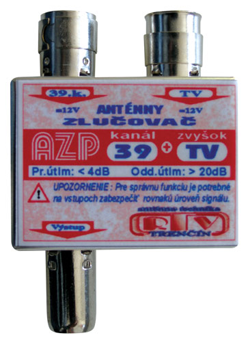 Anténní slučovač AZP39+TV IEC
