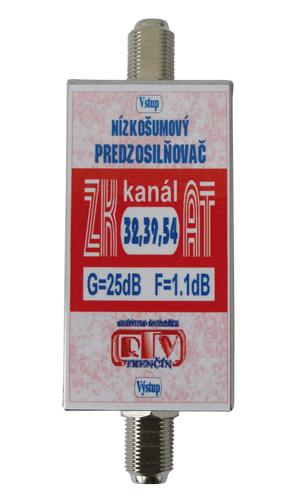 Anténní zesilovač ZK32,39,54AT 25dB  F-F