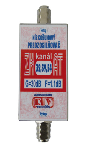 Anténní zesilovač RTV ELEKTRONICS ZK32,39,54AT 30dB F-F