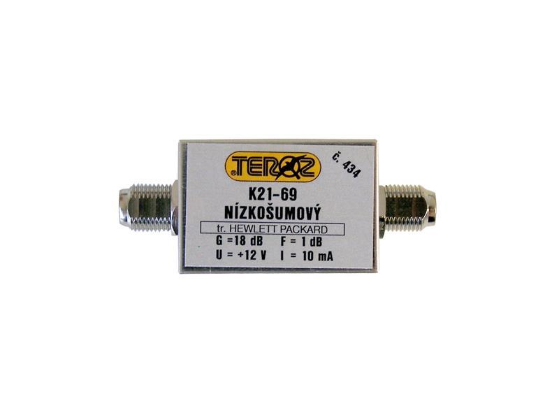 Anténní zesilovač TEROZ 434X UHF 18dB F-F