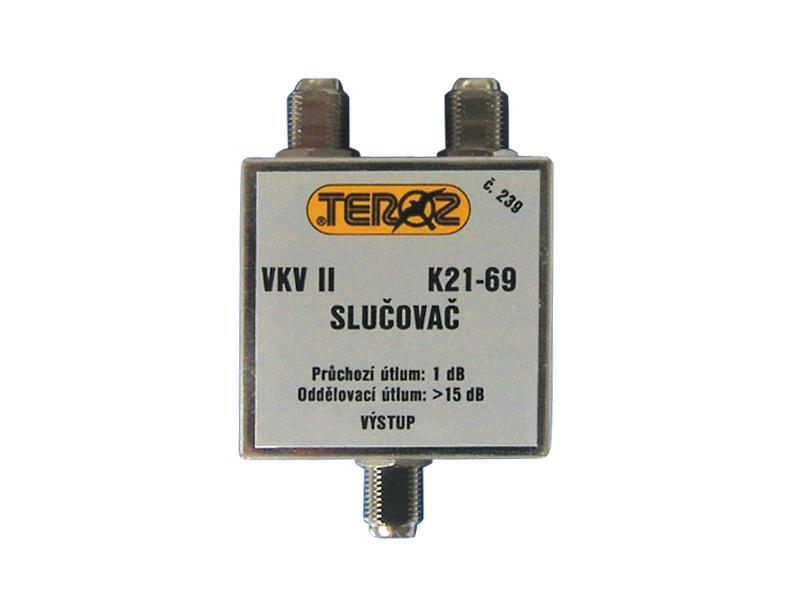 Anténní slučovač  pásmový VKV II+K21-60  F-F Teroz