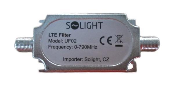 Filtr antenní LTE, rozsah 0-790MHz, max. 60. kanál DvB-T
