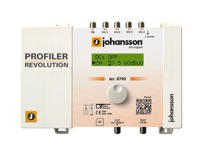 Anténní zesilovač programovatelný Johansson 6700 Profiler Revolution