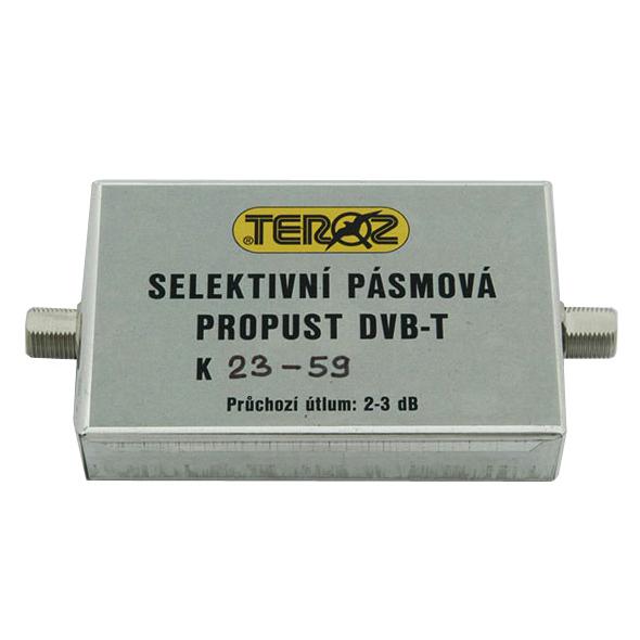 Anténní propust pásmová K23-59 (486-782MHz), F-F, Teroz, LTE free