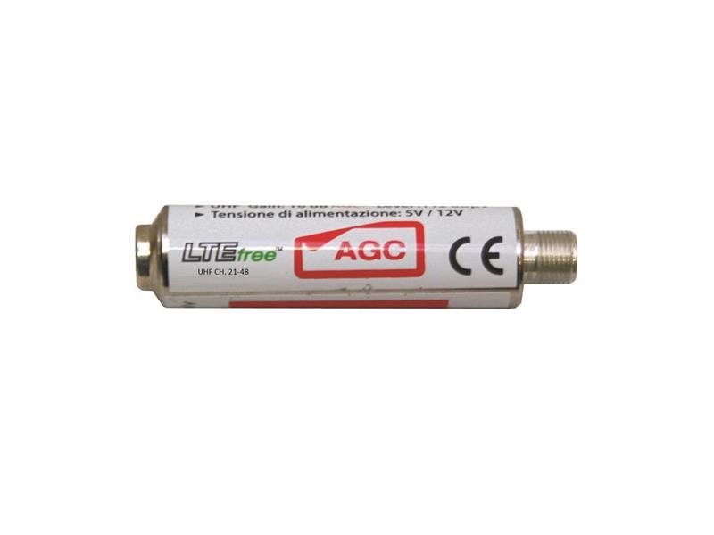 Anténní předzesilovač Emme Esse  81942A5G, UHF s AGC, filtr 5G + LTE, váleček