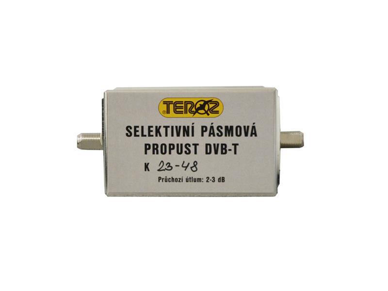 Anténní pásmová propust Teroz č.561 pro kanály K23 až 48 ( 486 až 690 MHz )