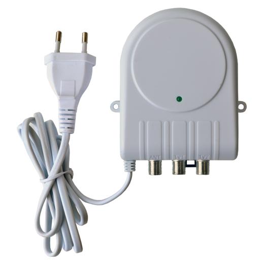 Anténní zesilovač JOHANSSON 7720L2,  filtr 5G LTE, 47 až 694MHz, malý domovní i do interiéru