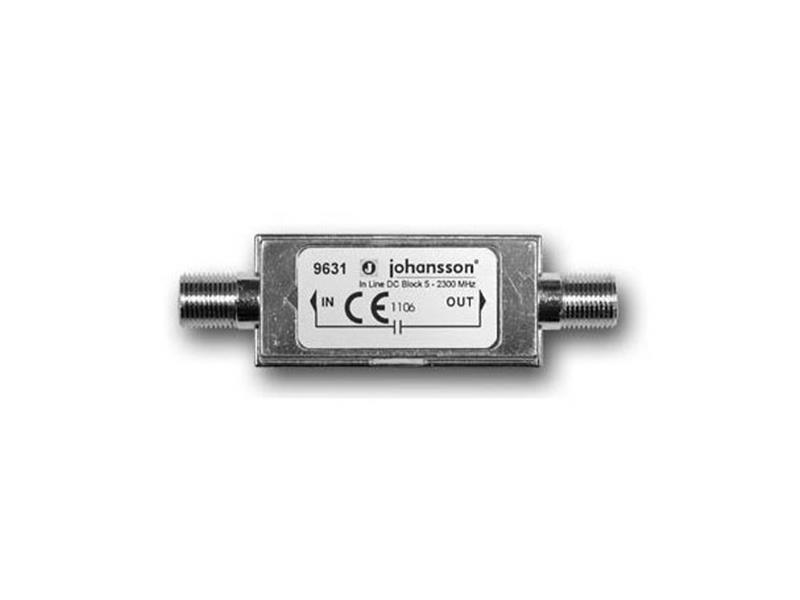 Anténní linková zádrž DC napájení Johansson 9631 (DC block)