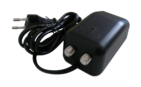 Anténní zdroj 12V/200mA Emme Esse 83975CE s výhybkou (F konektor)
