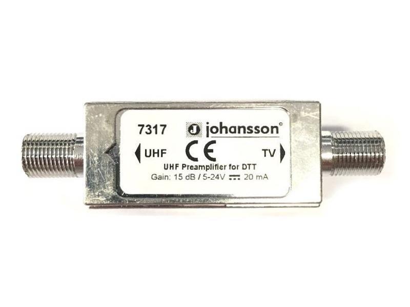 Anténní předzesilovač linkový Johansson 7317 UHF k. 21-69, 15dB