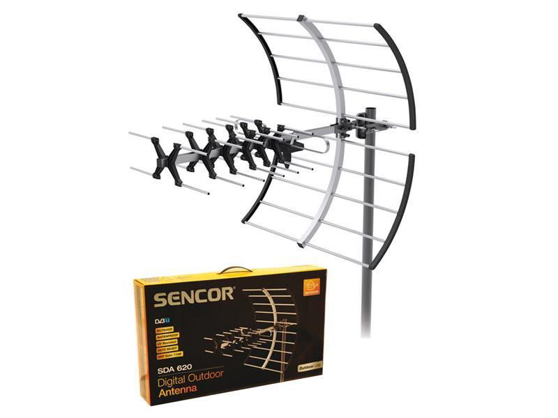 Anténa venkovní DVB-T SENCOR SDA-620