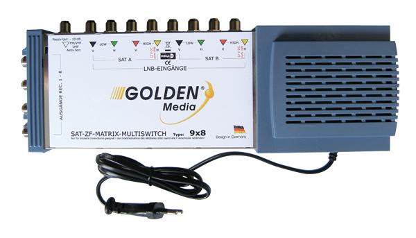 Satelitní multipřepínač Golden Interstar GI-9/8