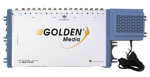 Satelitní multipřepínač Golden Interstar GI-17/12