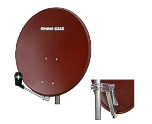 Satellite dish 80FE Emme Esse red