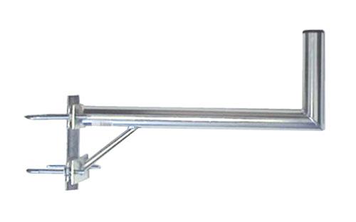 Anténní držák 50 na stožár s vinklem a dvěma třmeny průměr 42mm