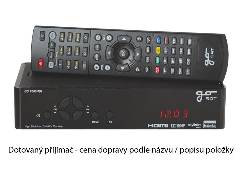 Satelitní přijímač GoSAT GS7060HDi DOTOVANÝ Přijímač - doprava zdarma od 2ks