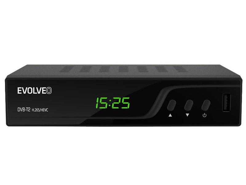 Terestriální přijímač Evolveo DT-3060-T2-HEVC Omega T2, HD DVB-T2 H.265/HEVC