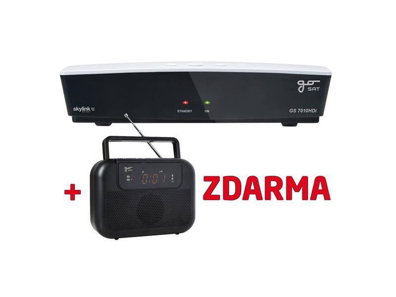 Satelitní přijímač GoSAT GS7010HDi + rádio GS-M10 Zdarma