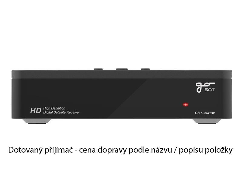 Satelitní přijímač GoSAT GS6050HDv - DOTOVANÝ přijímač - doprava zdarma od 2ks