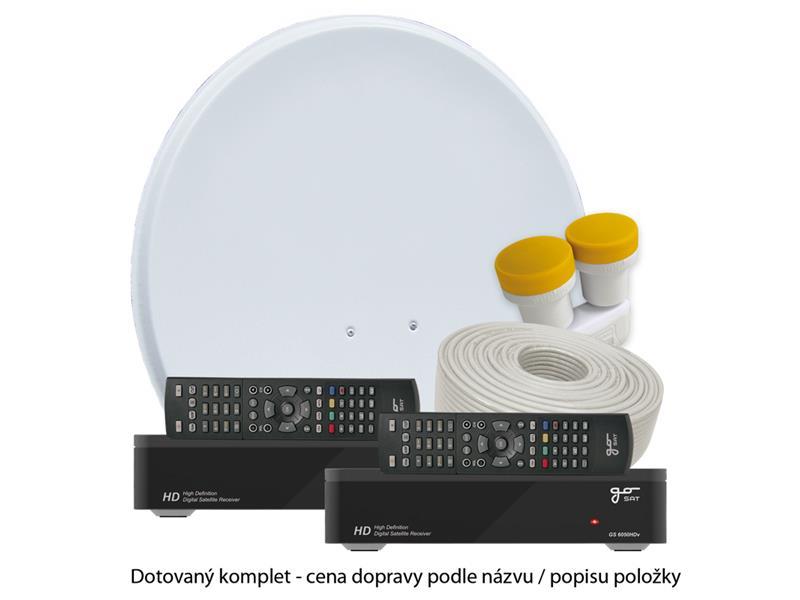 Satelitní přijímač GoSAT GS6050HDv DOTOVANÝ Dvojkomplet - Doprava zdarma