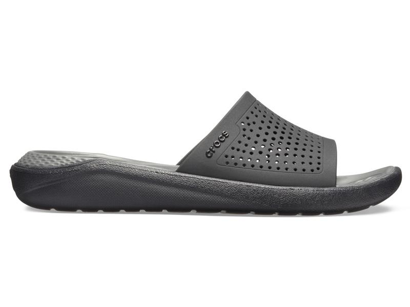 CROCS LITERIDE SLIDE - Black/Slate Grey M6/W8 (38-39)
